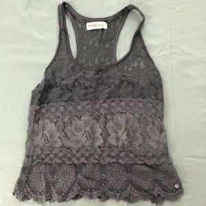 Abercrombie & Fitch grey racer back tank top